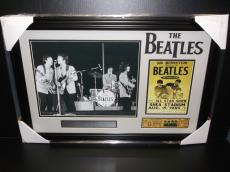 The Beatles Shea Stadium John Lennon Replica Ticket All Star Show Photo Framed