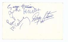 The Beatles Signed Autographed Parlophone Photo Lennon McCartney Beckett MINT 9