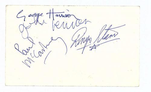 The Beatles Signed Autographed Parlophone Photo Lennon McCartney Beckett MINT 9