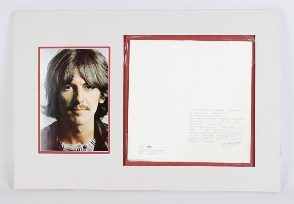 The Beatles – The White Album Signed by George Harrison (Album Cover) Display (PSA/DNA Full LOA)