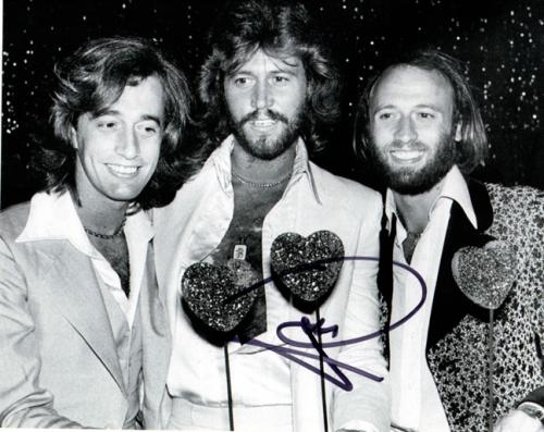 The Bee Gees Barry Gibb Signed Hearts N Smiles Photo Uacc Rd Coa AFTAL
