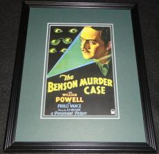 The Benson Murder Case Framed Poster Display Official Repro William Powell