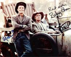 "THE BEVERLY HILLBILLIES"" Signed by BUDDY EBSEN as JED CLAMPETT and MAX BAER JR> as JETHRO BODINE (BUDDY Passed Away 2003) 10x8 Color Photo"