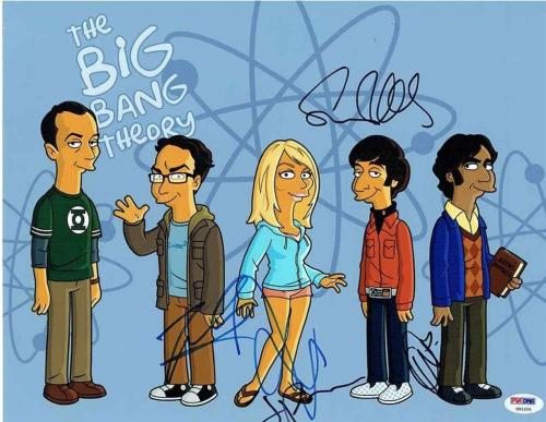 The Big Bang Theory Cast Autographed Signed 11x14Photo Authentic PSA/DNA COA