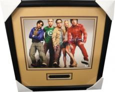 The Big Bang Theory Cast Signed 11x14 Photo Kaley Cuoco Parsons Galecki FRAMED
