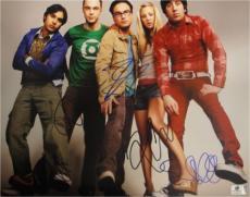 The Big Bang Theory Cast Signed 11x14 Photo Kaley Cuoco Parsons Galecki GA769733