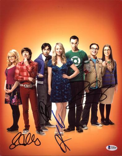 The Big Bang Theory (Kaley Cuoco, +3) Signed 11X14 Photo BAS #A10269