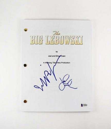 The Big Lebowski Bridges and Goodman Autographed Signed Script Authentic BAS COA