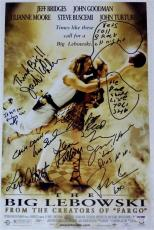 THE BIG LEBOWSKI Cast Signed 11x17 Photo JEFF BRIDGES Auto PSA COA INSCRIBED