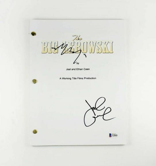 The Big Lebowski Goodman and Bridges Autographed Signed Script Authentic BAS COA