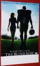 The Blind Side Michael Oher Autographed13.5 X 20 Photo Psa Dna Ravens