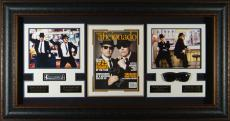Blues Brothers Jim Belushi Dan Aykroyd Signed Movie Display