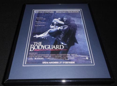 The Bodyguard 1992 Framed 11x14 ORIGINAL Vintage Advertisement Whitney Houston