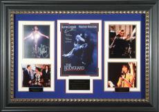 THE BODYGUARD Whitney Houston Kevin Costner Signed Framed