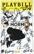 The Book Of Mormon Hand Signed Ny City Playbill+coa      Signed On Cover By Cast