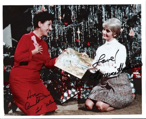 THE BRADY BUNCH-Florence Henderson and Ann B Davis signed 9X7 colored photo
