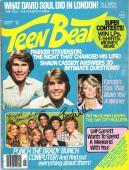 "THE BRADY BUNCH"" Signed by FLORENCE HENDERSON as CAROL BRADY, SUSAN OLSEN as CINDY BRADY, and BARRY WILLIAMS as GREG BRADY - AUGUST 1977 TEEN BEAT MAGAZINE"