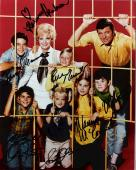 "THE BRADY BUNCH"" Signed by HENDERSON, MCCORMICK, PLUMB, OLSEN, WILLIAMS, KNIGHT, and LOOKINLAND - 8x10 Color Photo"