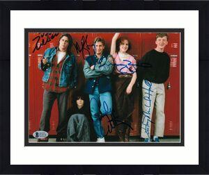 THE BREAKFAST CLUB CAST'S RINGWALD, ESTEVES, HALL+ 2 Signed 8x10 Photo BAS COA E