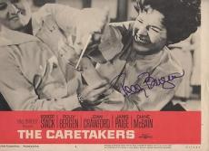 THE CARETAKERS signed POLLY BERGEN - original lobby card 1963