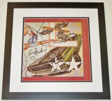 The Cars Autographed Vinyl Album Cover BLACK CUSTOM FRAME with Album RICK OCASEK, ELLIOT EASTON, GREG HAWKES AND DAVID ROBINSON.