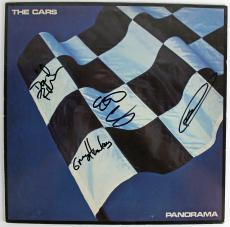 """The Cars Band Signed """"panorama"""" Album Cover Ocasek Hawkes +2 Psa/dna #x03660"""