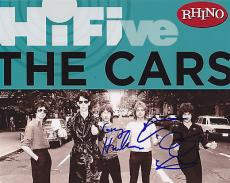 The Cars Group Signed 8x10 Photo w/COA Ocasek Hawkes