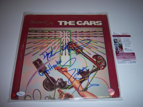 The  Cars Heartbeat City 4sigs Jsa/coa Signed Lp Record Album