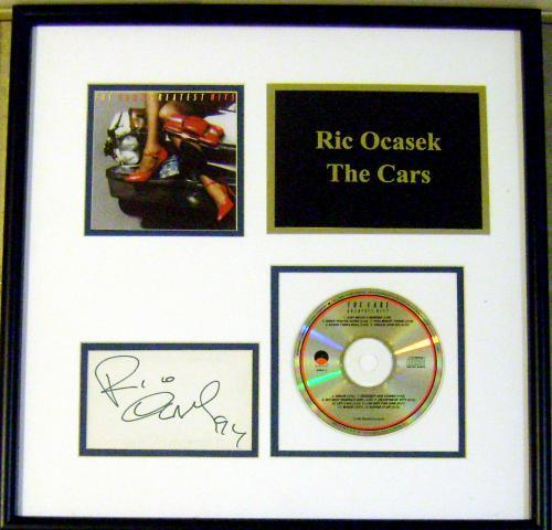 The Cars Ric Ocasek autograph 11x18 matted and framed with music CD (Band Lets Go)