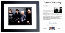 The Cars Signed - Autographed 11x14 inch Photo BLACK CUSTOM FRAME signed by Ric Ocasek, Elliot Easton, Greg Hawkes, and David Robinson - PSA/DNA FULL Letter of Authenticity