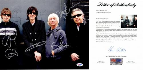 The Cars Group Signed - Autographed Rock Band 11x14 inch Photo by Ric Ocasek, Elliot Easton, Greg Hawkes, and David Robinson - PSA/DNA FULL Letter of Authenticity