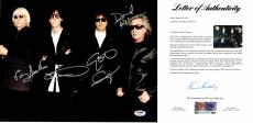 The Cars Signed - Autographed 11x14 inch Photo signed by Ric Ocasek, Elliot Easton, Greg Hawkes, and David Robinson - PSA/DNA FULL Letter of Authenticity