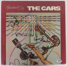 The Cars Signed Heartbeat City Autographed Vinyl Record Album Ocasek + 3 PSA/DNA
