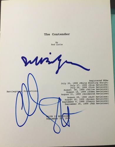 "The Contender"" Jeff Bridges & Cast Signed Autograph Full Movie Script Coa"