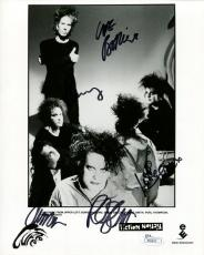 THE CURE HAND SIGNED 8x10 GROUP PHOTO      AWESOME+RARE       ROBERT SMITH   JSA