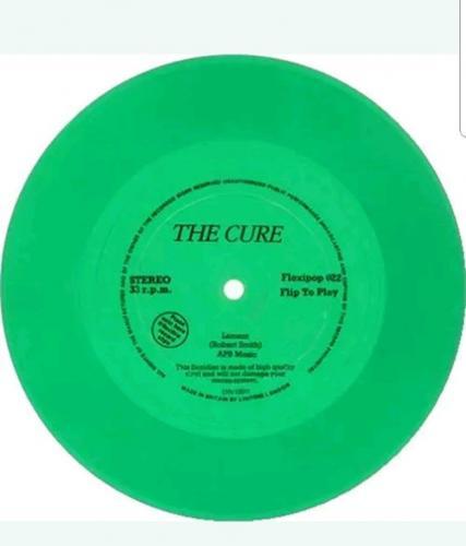 """THE CURE Lament (Scarce 1982 UK Flexipop 1-trackGREEN7"""" vinyl record flexidisc"""