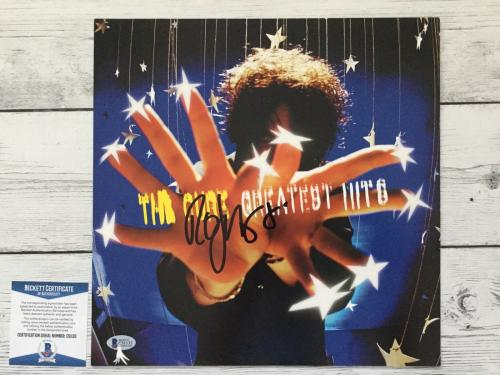The Cure Robert Smith Signed 12x12 Greatest Hits Poster Beckett BAS COA a