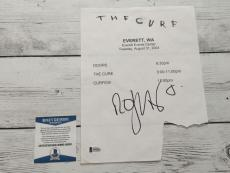 The Cure Robert Smith Signed Autographed Paper Beckett BAS COA a