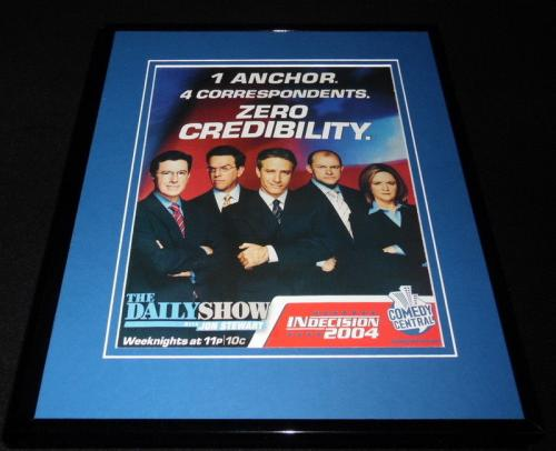 The Daily Show Indecision 2004 Framed ORIGINAL Advertisement Jon Stewart Colbert