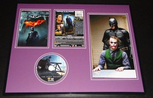 The Dark Knight 2008 Framed DVD & Photo Display Heath Ledger Christian Bale