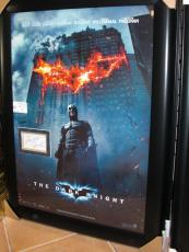 The Dark Knight - Batman - Christian Bale Autographed 3x5 card ~ Custom Framed into the Movie Poster