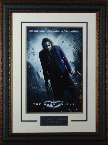 """Dark Knight - The Joker Framed 11x17"""" Publicity Movie P"""