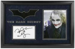 THE DARK KNIGHT FRAMED (JOKER) PHOTO w/ENGRAVED SIG