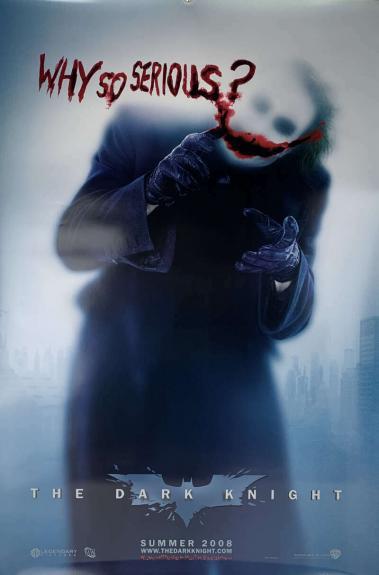The Dark Night Batman Pre Release 27x40 Poster Original Beckett BAS