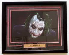 "The Dark Night Heath Ledger ""The Joker"" Framed 25x19 Photo"