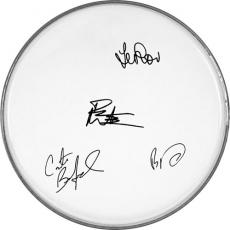 The Dave Matthews Band Autographed Facsimile Signed Clear Drumhead