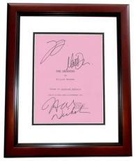 The Departed Autographed Script Cover by Leonardo DiCaprio, Matt Damon, and Jack Nicholson MAHOGANY CUSTOM FRAME