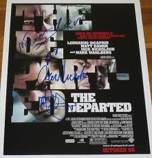 The Departed Cast Signed 11x14 Photo Movie Poster Nicholson Dicaprio Damon Coa