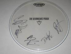 The Devil Wears Prada Group Signed Drumhead Dead Throne 8:18 Plagues METAL