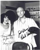 """THE DICK VAN DYKE SHOW"""" Signed by DICK VAN DYKE as ROB and MARY TYLER MOORE as LAURA 8x10 B/W Photo"""